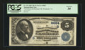 National Bank Notes:Virginia, Winchester, VA - $5 1882 Value Back Fr. 574 The Farmers &Merchants NB Ch. # (S)6084. ...