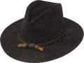 Military & Patriotic:Indian Wars, Pristine Condition U.S. Officers Black Felt Slouch Hat, Circa1880....