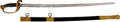 """Military & Patriotic:Civil War, U.S. M1850 Foot Officer's Sword by Ames with the Following Inscription on the Throat of the Scabbard: """"Presented To/ Capt. Ale..."""