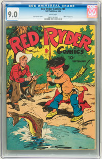 Red Ryder Comics #38 (Dell, 1946) CGC VF/NM 9.0 White pages