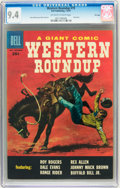 Silver Age (1956-1969):Western, Dell Giant Comics Western Roundup #19 File Copy (Dell, 1957) CGC NM9.4 Off-white to white pages....