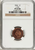 Patterns: , 1864 1C One Cent, Judd-356, Pollock-426, Low R.6, PR64 RB NGC. NGCCensus: (0/1). PCGS Population (2/4). (#60524)...