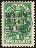 Stamps, $1 Yellow Green (RJM1),...