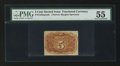 Fractional Currency:Second Issue, Fr. 1232SP 5¢ Second Issue Narrow Margin Back Specimen PMG About Uncirculated 55.. ...