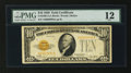 Small Size:Gold Certificates, Fr. 2400 $10 1928 Gold Certificate. PMG Fine 12.. ...