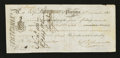 Canadian Currency: , Placentia, NF- First Note of Exchange £4 Nov. 6, 1821 Ch. # UNL....