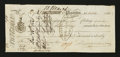 Canadian Currency: , Placentia, NF- First Note of Exchange £12 Oct. 23, 1826 Ch. # UNL....