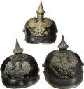 Military & Patriotic:WWI, Group of Three Imperial German Prussian Enlisted Mans' SpikedHelmets.... (Total: 3 Items)