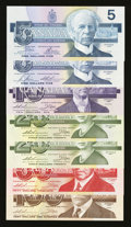 Canadian Currency: , Bank of Canada Serial Number 410 Set. ... (Total: 7 notes)