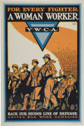 Military & Patriotic:WWI, WWI Home Front Posters: Three YWCA Posters.... (Total: 3 Items)