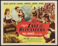 "Movie Posters:Swashbuckler, Last of the Buccaneers (Columbia, 1950). Half Sheet (22"" X 28"") Style A. Swashbuckler.. ..."