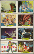 "Movie Posters:Animated, Peter Pan (Buena Vista, R-1969). Lobby Card Set of 8 (11"" X 14"").Animated.. ... (Total: 8 Items)"