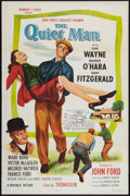 "Movie Posters:Drama, The Quiet Man (Republic, R-1957). One Sheet (27"" X 41"") Flat-Folded. Drama.. ..."