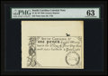 Colonial Notes:South Carolina, 19th Century Reprint South Carolina June 30, 1748 £1 PMG ChoiceUncirculated 63....