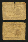 Colonial Notes:Continental Congress Issues, Continental Currency November 29, 1775 $1 Good-Very Good TwoExamples.... (Total: 2 notes)