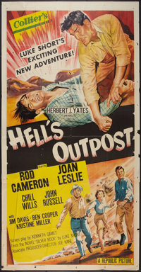 "Hell's Outpost (Republic, 1955). Three Sheet (41"" X 81""). Western"