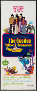 "Movie Posters:Animation, Yellow Submarine (United Artists, 1968). Insert (14"" X 36"").Animation.. ..."