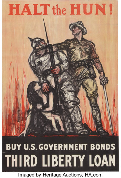 WWI Home Front Poster: Pair of Exceptional Liberty Bond