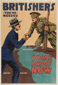 Military & Patriotic:WWI, WWI British Recruiting Posters: Three Exceptional BritishRecruiting Posters.... (Total: 3 Items)