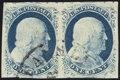 Stamps, 1¢ Blue, Type IV (9),...