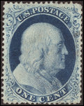 Stamps, 1¢ Blue, Type III (21),...