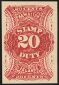 Stamps, 20c Red, Imperforate (R9a),...