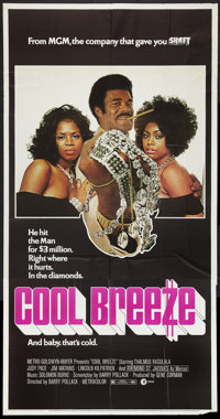 """Cool Breeze and Other Lot (MGM, 1972). Three Sheet (41"""" X 81""""), Lobby Card Set of 8 (11"""" X 14""""), and..."""