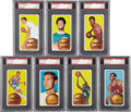 Basketball Cards:Lots, 1970 Topps PSA-Graded NM+ 7.5 Group of (7) With Alcindor and West....