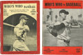 "Baseball Collectibles:Publications, 1937 and 1943 ""Who's Who In Baseball"" Guides Lot of 2...."