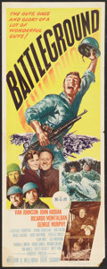 "Movie Posters:War, Battleground (MGM, 1949). Insert (14"" X 36""). War.. ..."