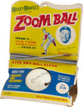 "Baseball Collectibles:Others, Circa 1960's Mickey Mantle ""Zoom Ball"" In Original Package...."