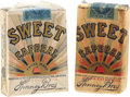 "Baseball Collectibles:Others, 1910's-1920's ""Sweet Caporal"" Cigarette Pack Pair (2). ..."