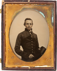 """""""The Gallant Pelham"""": Half Plate Ambrotype of John Pelham from Life by Mathew Brady, Doubtless Executed in His..."""