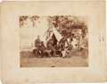 Military & Patriotic:Civil War, Philip Sheridan and Staff: Mounted Albumen. ...