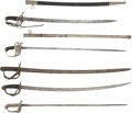 Military & Patriotic:Foreign Wars, Group of Five Foreign Military Swords.... (Total: 5 Items)