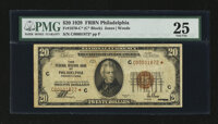 Fr. 1870-C* $20 1929 Federal Reserve Bank Note. PMG Very Fine 25
