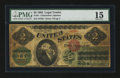 Error Notes:Large Size Errors, Fr. 41 $2 1862 Legal Tender PMG Choice Fine 15....