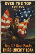 """Military & Patriotic:WWI, WWI Home Front Poster: """"Over the Top For You"""". ..."""