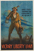 """Military & Patriotic:WWI, WWI Home Front Poster: """"And They Thought We Couldn't Fight"""". ..."""
