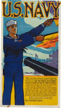 """Military & Patriotic:WWI, WWI Recruiting Poster: """"U.S. Navy Offers American Citizens, of GoodCharacter..."""". ..."""