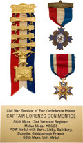 Military & Patriotic:Civil War, Great Grouping Includes Medal for Massachusetts Survivor of Four Confederate Prison Camps.... (Total: 3 Items)