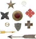 Military & Patriotic:Civil War, Interesting Group of Corps Insignia.... (Total: 10 Items)