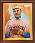 Baseball Collectibles:Others, Christy Mathewson Original Oil Painting....