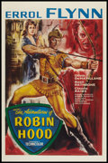 "Movie Posters:Adventure, The Adventures of Robin Hood (Warner Brothers, R-1950s). BritishOne Sheet (27"" X 40""). Adventure.. ..."