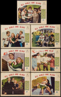 """Movie Posters:Sports, The Quarterback (Paramount, 1940). Lobby Cards (7) (11"""" X 14""""). Sports. Released in Australia as All Girls are Alike.. ... (Total: 7 Items)"""