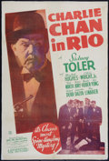 "Movie Posters:Mystery, Charlie Chan in Rio (20th Century Fox, 1941). One Sheet (27"" X41""). Mystery.. ..."