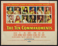 "Movie Posters:Historical Drama, The Ten Commandments (Paramount, 1956). Half Sheet (22"" X 28"")Style B. Historical Drama.. ..."