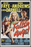 "Movie Posters:Film Noir, Fallen Angel (20th Century Fox, 1945). One Sheet (27"" X 41""). FilmNoir.. ..."