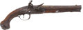 Military & Patriotic:Revolutionary War, Untouched, Relief-Carved, French Belt Pistol, Circa 1760. ...