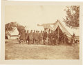 Military & Patriotic:Civil War, Seminal Portrait of President Abraham Lincoln Meeting George McClellan and Staff in the Aftermath of the Battle of Antietam....